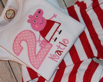 Peppa Pig Ruffled Pants Personalized