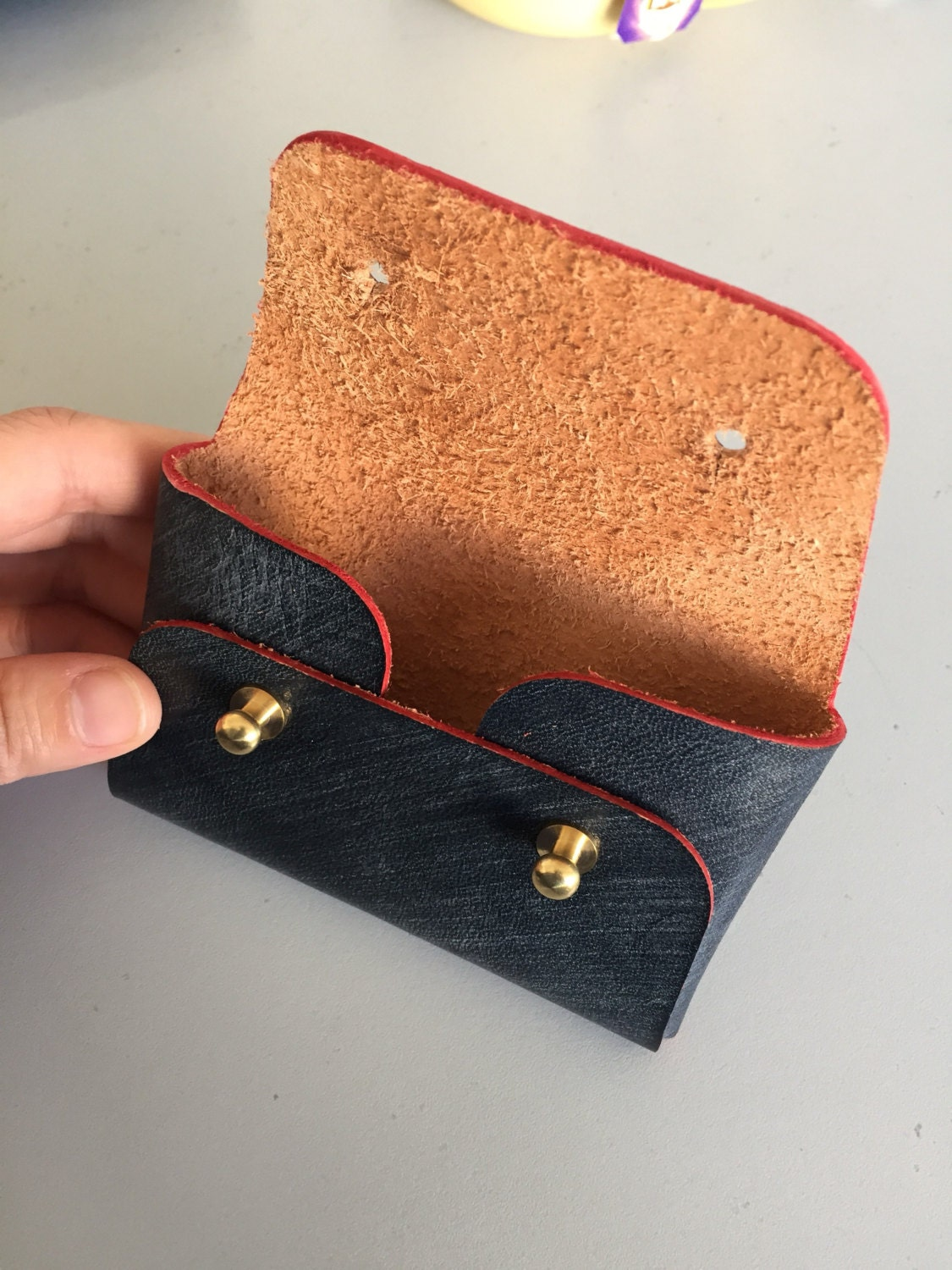 Business card holder/ Origami coin and card wallet/ Business card ...