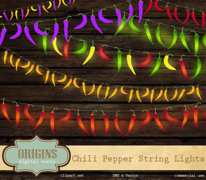 chili pepper string lights clip art fiesta red pepper lights. Black Bedroom Furniture Sets. Home Design Ideas