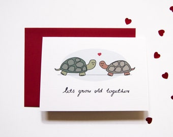 Cute Love Card - Let's grow old together / Valentine's Day Card / Anniversary Card