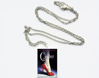 Cinder mini book necklace