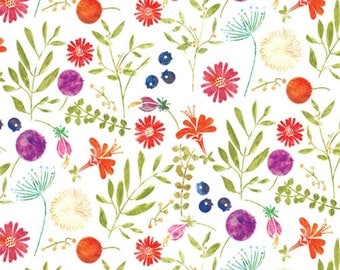 """Meadow Wild Flower Tissue Paper # 339 -----10 large sheets - 20"""" x 30"""" - Floral, Nature -- 20"""" x 30"""""""