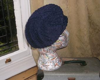 Vintage Navy Blue Hat