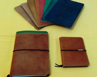 Colored Leather Midori Style Notebook