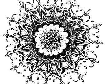 Detailed Mandala Print
