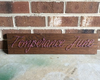 Custom String Art Name Wood Sign Wall Art Home Decor, Girl's Room,Boy's Room, Nursery-MADE TO ORDER