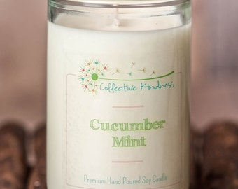 13oz Fresh & Clean Collection ~ Recycled Glass Soy Candle