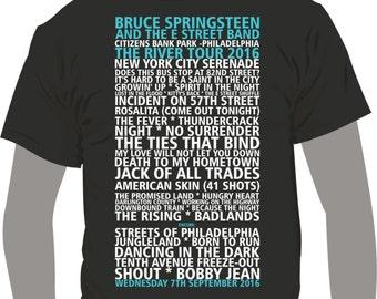 Bruce Springsteen The River Tour 2016 Citizens Bank Park -Philadelphia 9th September 2016 - T-Shirt