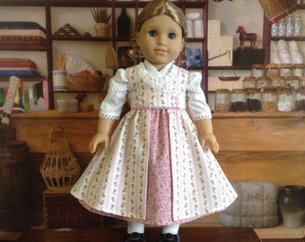 American Girl 1812 Regency Pink Pinafore Dress and Fichu