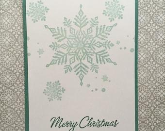 Snowflake Chtistmas Card