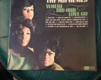 Vintage Record Album THE SUPREMES Where Did Our Love Go 1964