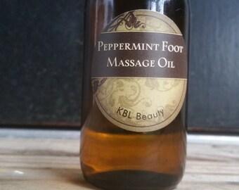 Peppermint Foot Massage Oil