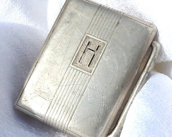 Antique Sterling Silver Hickok Belt Buckle 1.5 x 1 inches