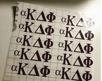 Greek Letters Decals