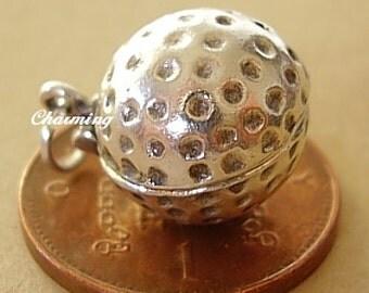 Sterling Silver GOLF BALL - Bogey Man Opening Charm