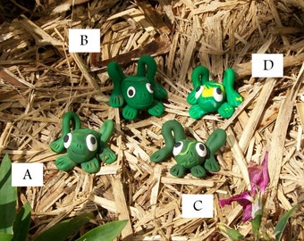 Frogs - Polymer Ornaments (Group 2)