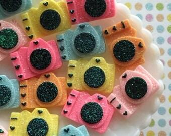 SALE - Cute Camera Resin Cabochons - Kawaii Decoden Cabochon Mix - Embellishments