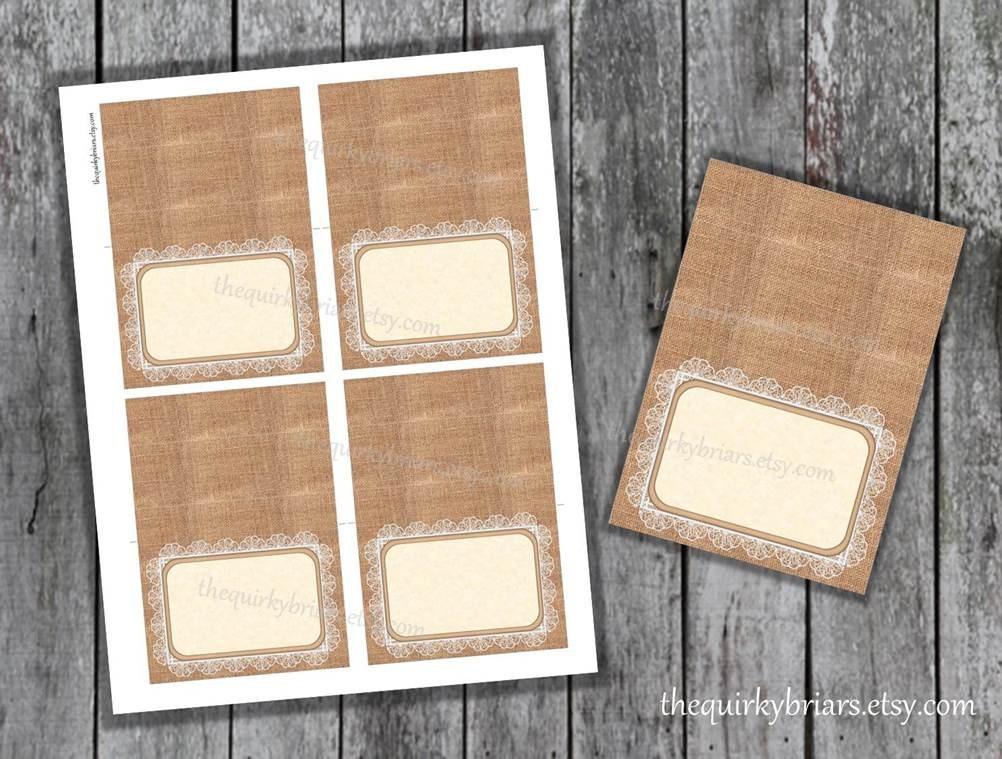 Burlap and Lace / Blank Food Labels / Buffet Tent Cards / DIY Rustic Farm Barnyard & Burlap and Lace / Blank Food Labels / Buffet Tent Cards / DIY Rustic ...