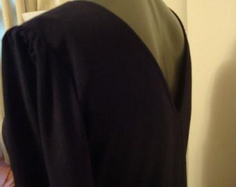 80's Black Dress by Ala Carte California