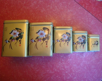 Vintage Canisters Set of 5