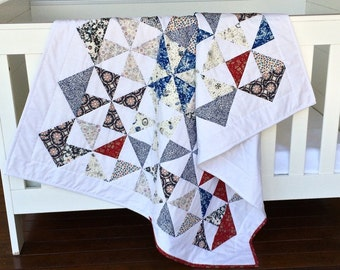 Baby Quilt - Cot Quilt - Crib Quilt - Toddler Quilt - Liberty of London