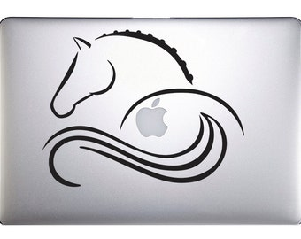 Stylized horse decal for MAC laptop