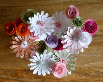 Paper Flowers, Daisy Posy - mixed colours