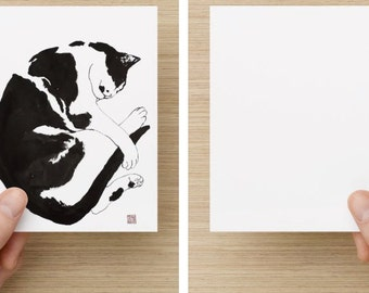 """Card with my cat art (5.47"""" x 4.21"""")"""