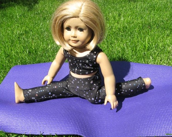 """Yoga Outfit With Mat for American Girl Dolls & Other 18"""" Dolls"""