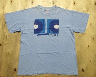 Vintage 90s Beck Rock Pop T-Shirt Sz XL