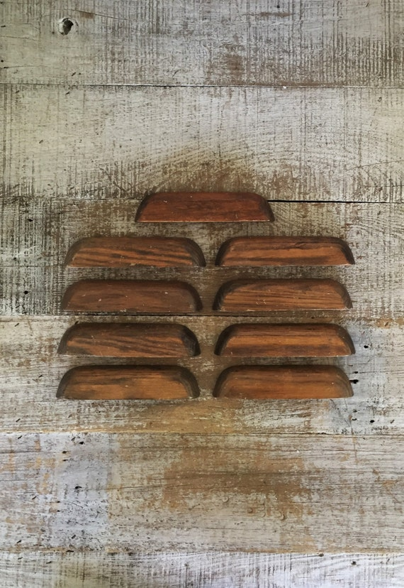 Drawer Handles 9 Drawer Pulls Large Wood Handles Mid Century