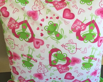 I Love Frogs Cushion Cover