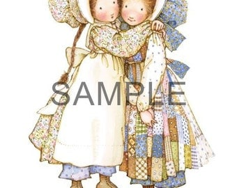 Fabric Art Quilt Block - Hollie Hobbie *Friends* 16-075 FREE SHIPPING