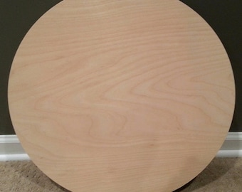 Custom Cut Circle, 20 inch diameter, 1/2 inch thick plywood, plywood circle