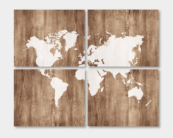 World Wall Art wood world map | etsy