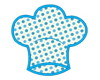 Chefs Hat Applique Embroidery Design 120414 Chef Design Kitchen Applique 2X2 4X4 5X7 8X8 6X10 Instant download