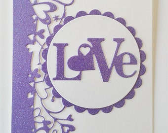 Glittery Love Valentine's Day Card Kit (5)