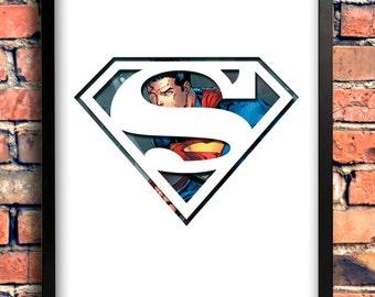 Superman Logo Art