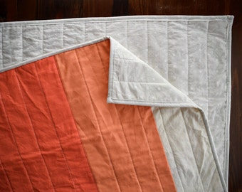 The Warming Up Quilt | Modern Ombre Quilt
