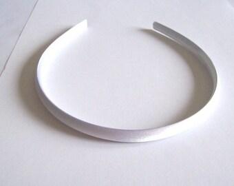 white headband Satin children's alice band