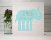 Shiplap Wood Hand Painted Sign  -Dream Big Little One Elephant- Wood Nursery Decor-Baby Gift-Shower Gift-Birthday Gift-Country Decor