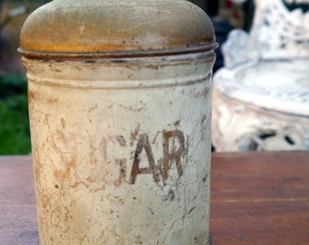 Old Vintage Sugar Tin/Canistor/Container
