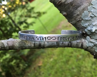 Bob Dylan | forever young bracelet | parenthood the show | Dylan gift idea | gift for classic rock music lover | may you stay forever young