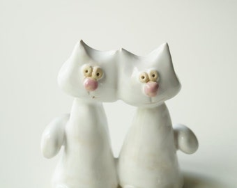 Same Sex Cake Topper, Lesbian Cake Topper, Gay Cake Topper, Ceramic Cat Cake Topper, Wedding Cake Topper, Married Couple, lgbt