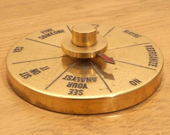 Decision Maker Wheel / spin / fortune teller || Brass Vintage