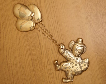 Solid Brass Decorative Flying Clown || vintage || wall decor || high quality