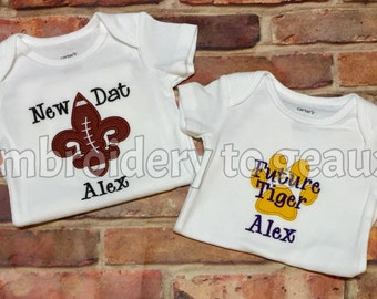Baby Boy Saints Outfit, Baby Boy LSU Outfit, Baby Boy Football Outfit, Baby Boy Gift Set, Football Gift Set Boys, Football Baby Shower Gifts