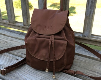 90s Small Brown Backpack