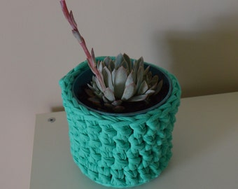 Handmade Crochet Basket - Plant Holder