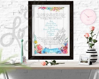 YW Young Women Theme 20x30 LDS